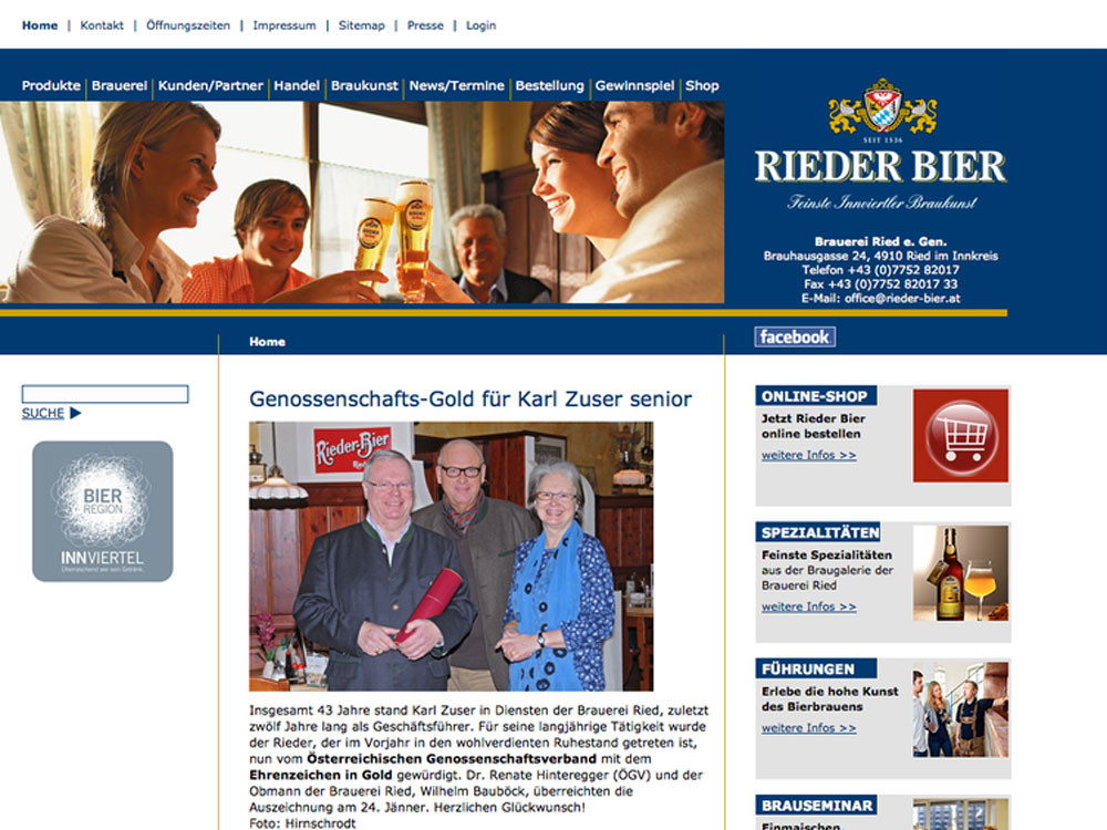Brauerei Ried – Website