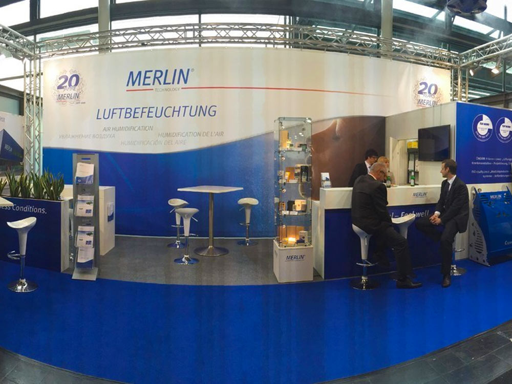 Merlin Messestand